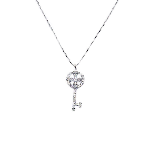 Key Cubic Zirconia Necklace