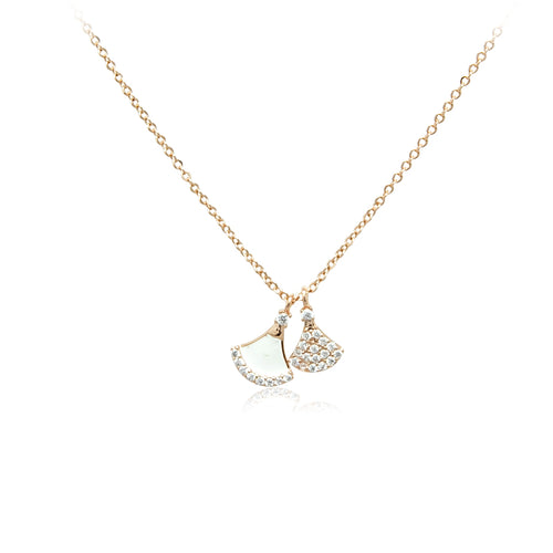 Fan Cubic Zirconia Necklace