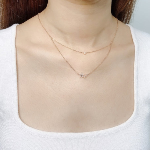Cubic Zirconia Layered Necklace