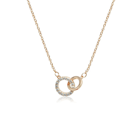 Interlocking Round Cubic Zirconia Necklace