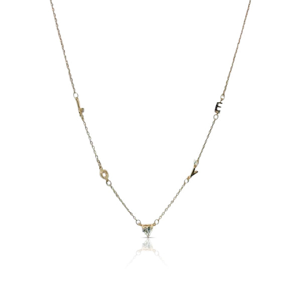 Cubic Zirconia Love Necklace