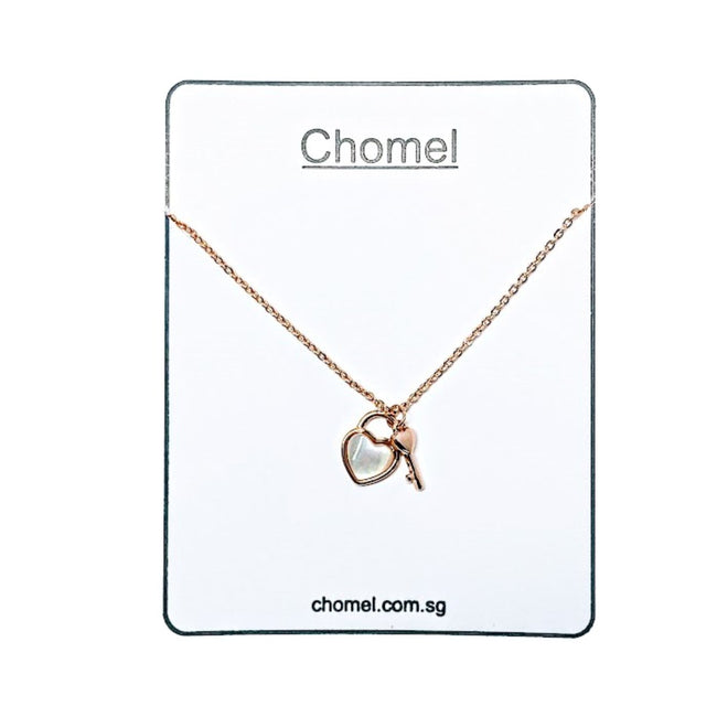 Lock & Key Mother of Pearl Necklace - CHOMEL