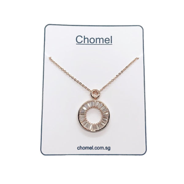 Round Cubic Zirconia Pendant Necklace