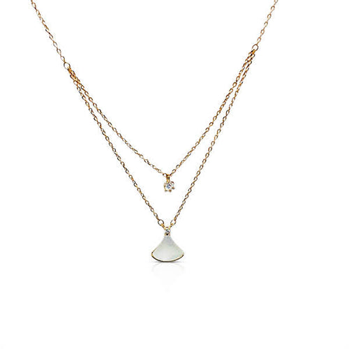 Fan Mother of Pearl Necklace