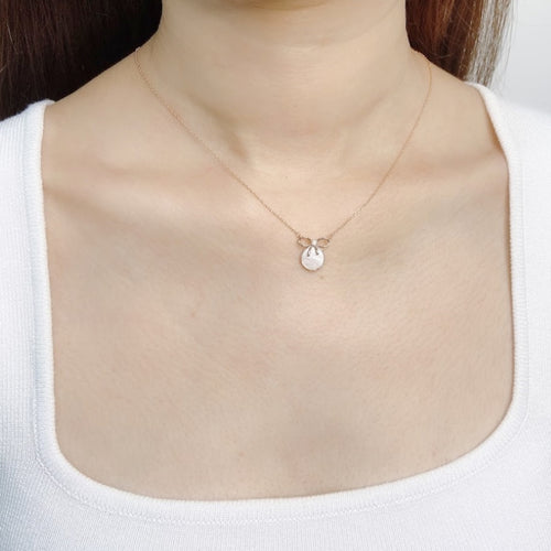 Mother of Pearl Ribbon Pendant Necklace