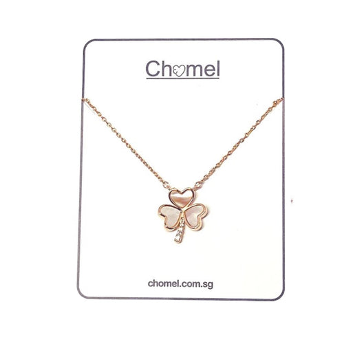 Mother of Pearl Clover Pendant Necklace