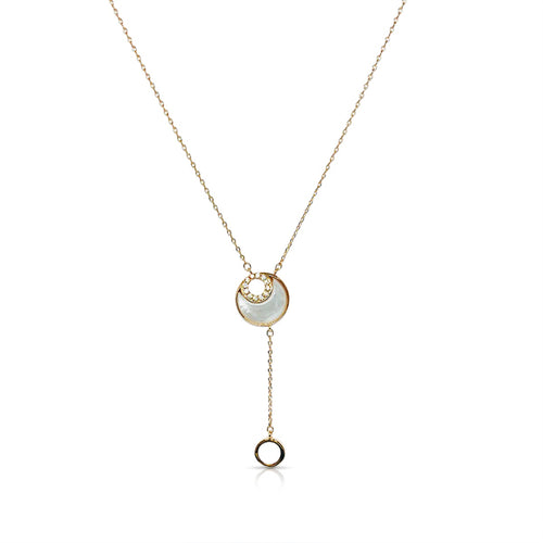Moon Mother of Pearl Necklace - CHOMEL