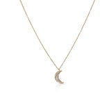 Moon Mother of Pearl Necklace