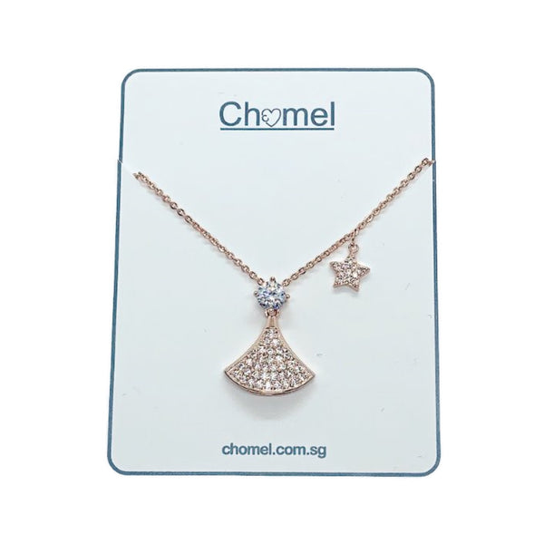 Fan Cubic Zirconia Necklace - CHOMEL
