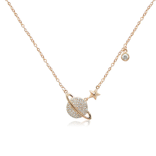 Planet Cubic Zirconia Necklace