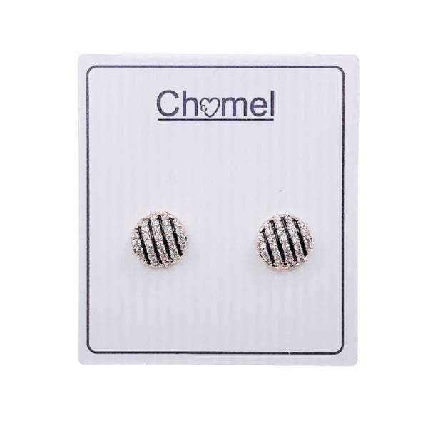 Round Cubic Zirconia Earrings - CHOMEL