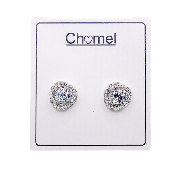 Solitaire Cubic Zirconia Earrings