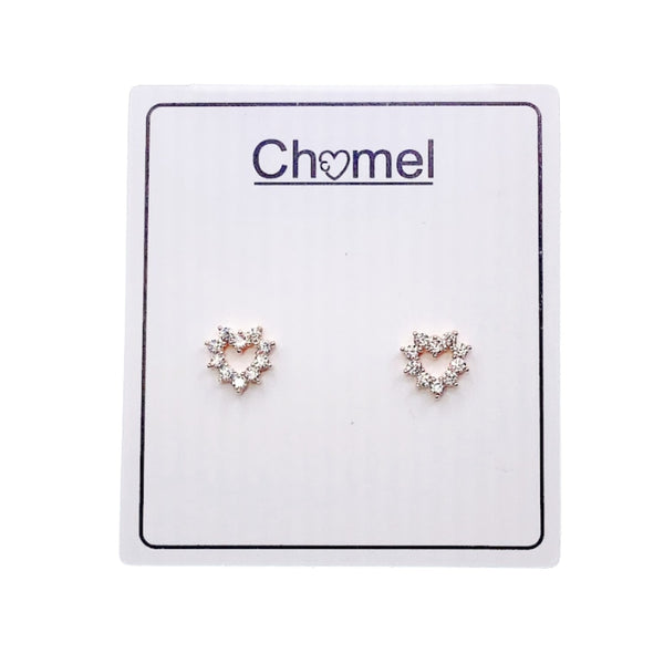 Heart Cubic Zirconia Earrings