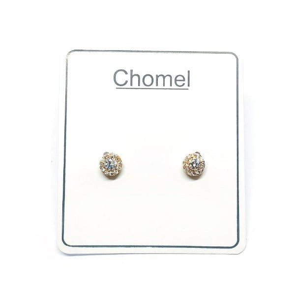 Solitaire Cubic Zirconia Earrings - CHOMEL