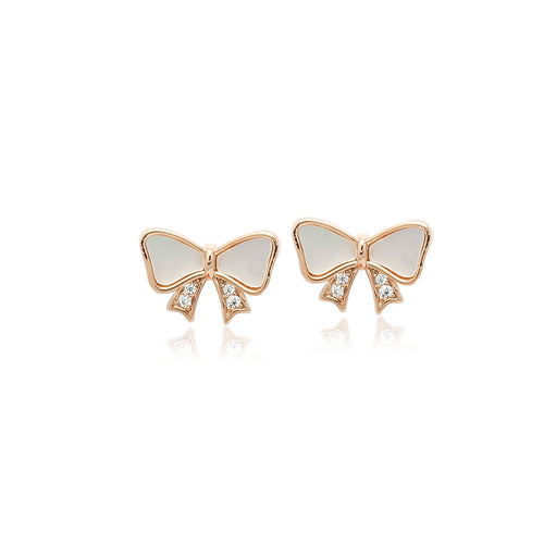 Mother of Pearl Ribbon Earrings - CHOMEL