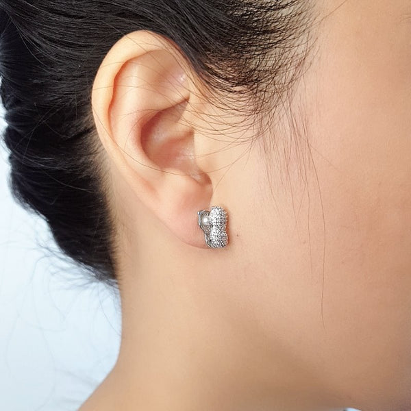 Peanut Cubic Zirconia Earrings - CHOMEL
