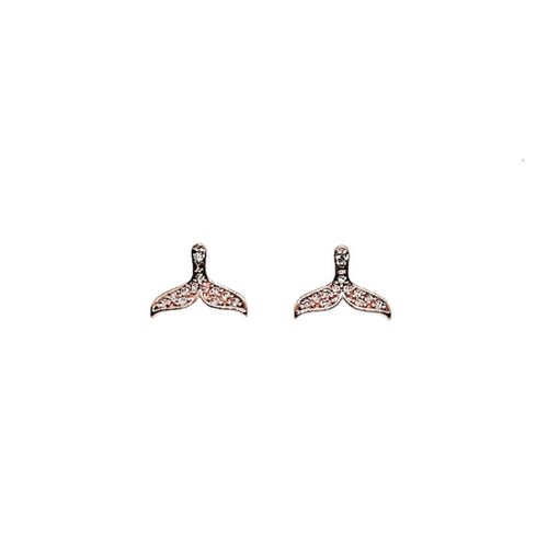 Mermaid Tail Cubic Zirconia Earrings - CHOMEL
