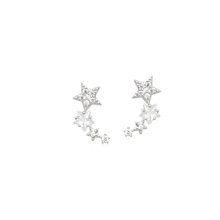Cubic Zirconia Star Earrings