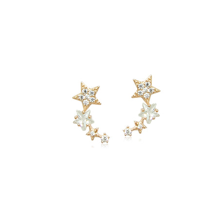Cubic Zirconia Ribbon Earrings