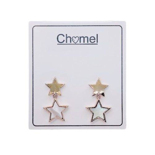 Star Mother of Pearl Earrings - CHOMEL