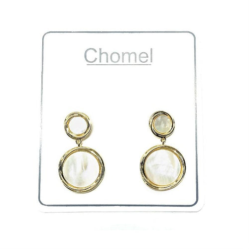 Round Mother of Pearl Earrings