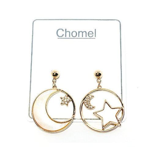 Moon & Star Mother of Pearl Earrings - CHOMEL