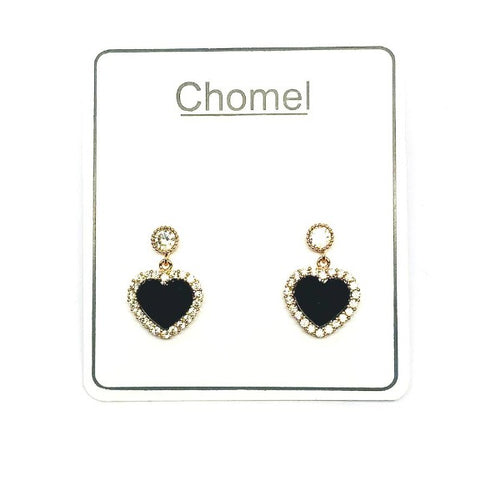 Heart Cubic Zirconia Earrings - CHOMEL