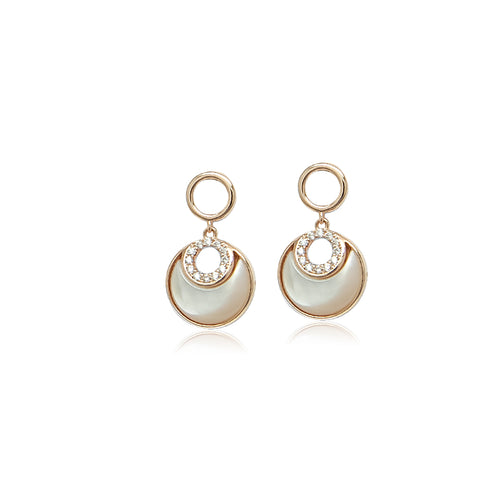 Round Mother Of Pearl Earrings - CHOMEL