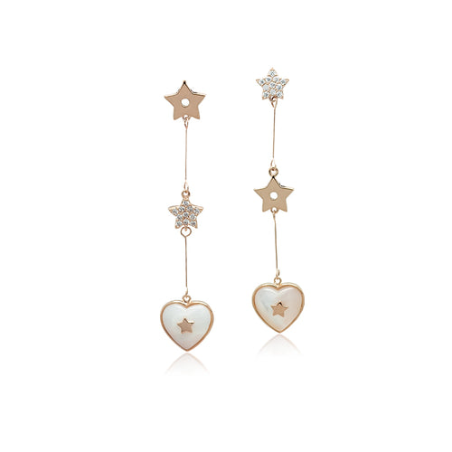 Heart Mother of Pearl Earrings - CHOMEL