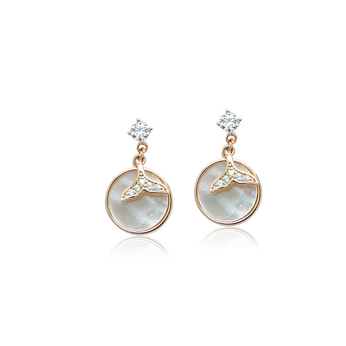 Mermaid Tail Mother of Pearl Earrings - CHOMEL