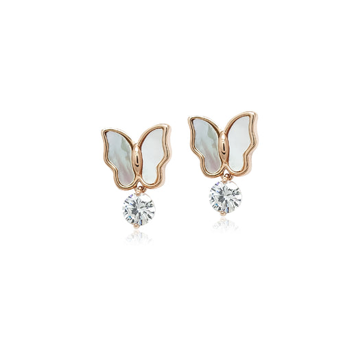 Butterfly Mother of Pearl Earrings - CHOMEL