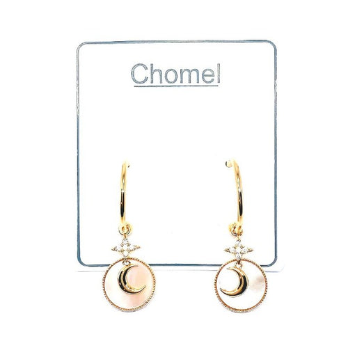 Star & Moon Mother of Pearl Earrings - CHOMEL