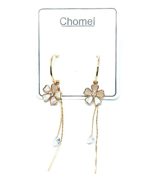 Mother of Pearl Flower Earrings - CHOMEL