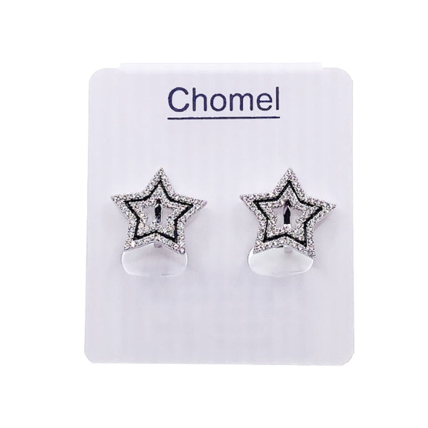 Star Cubic Zirconia Clip Earrings - CHOMEL