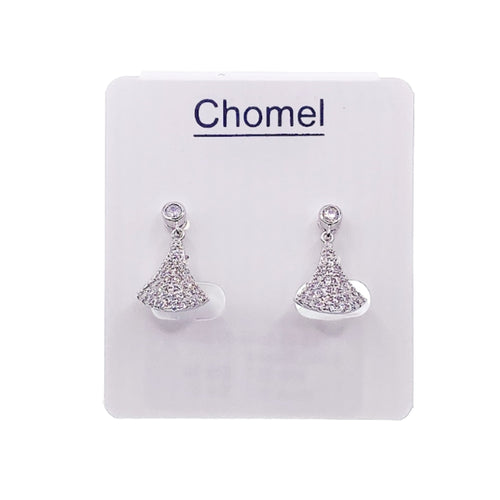 Fan Cubic Zirconia Earrings - CHOMEL