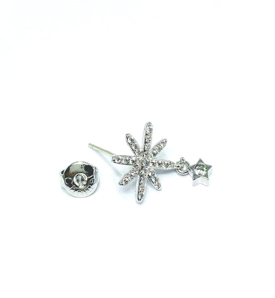 Cubic Zirconia Star Stud Drop Earrings