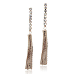 Rose Gold Cubic Zirconia Tassel Earring