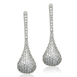 Pavé Cubic Zirconia Drop Earring