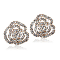 Rose Gold Cubic Zirconia Clip-on Earring