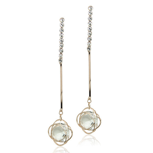 Rose Gold Drop Earring - CHOMEL