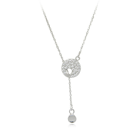 Key Cubic Zirconia Pendant Necklace