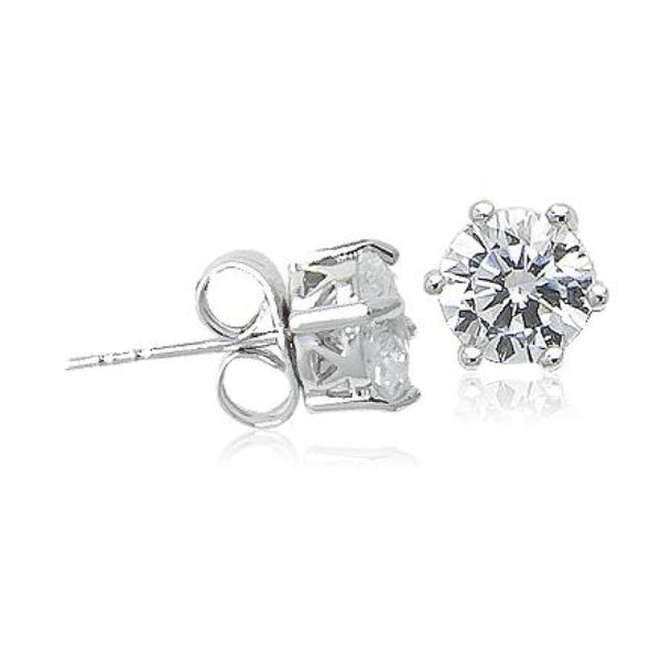7mm Cubic Zirconia Diamante Stud Earring - CHOMEL