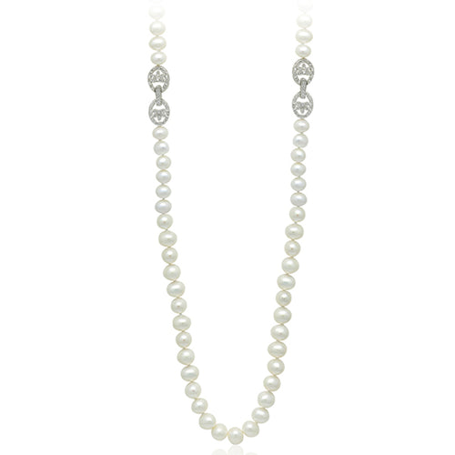 "8-9mm Freshwater Pearl 34"" Necklace"