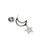 Star & Moon Cubic Zirconia Earrings - CHOMEL