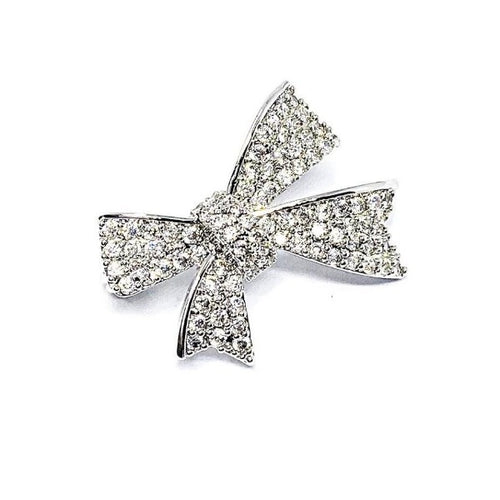 Ribbon Cubic Zirconia Brooch