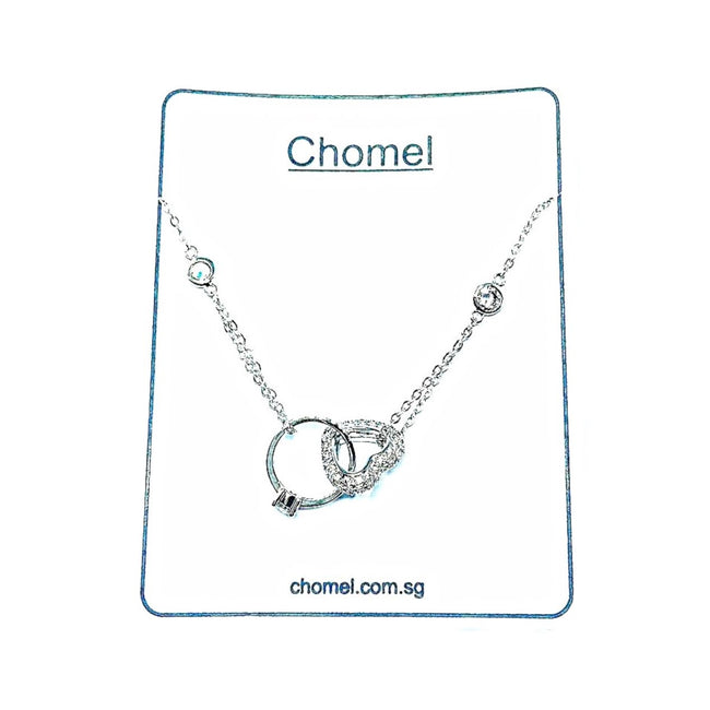 Interlocking Heart & Ring Necklace - CHOMEL