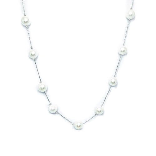 Pearl Chain Necklace - CHOMEL
