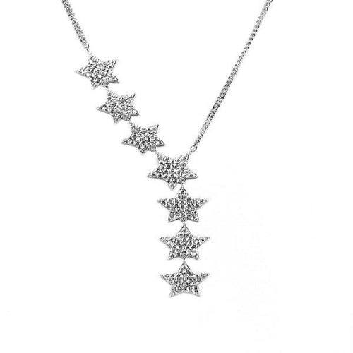 Star Cubic Zirconia Long Necklace