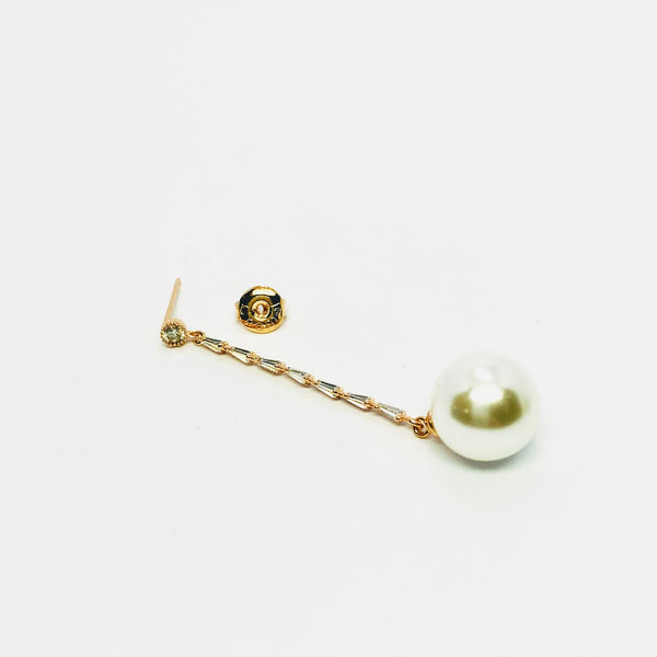 Pearl Drop Long Earrings - CHOMEL