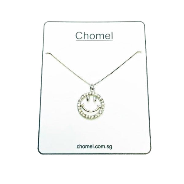 Smiley Cubic Zirconia Necklace - CHOMEL